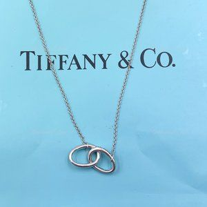 Authentic Tiffany & Co. Silve Double Loop Necklace